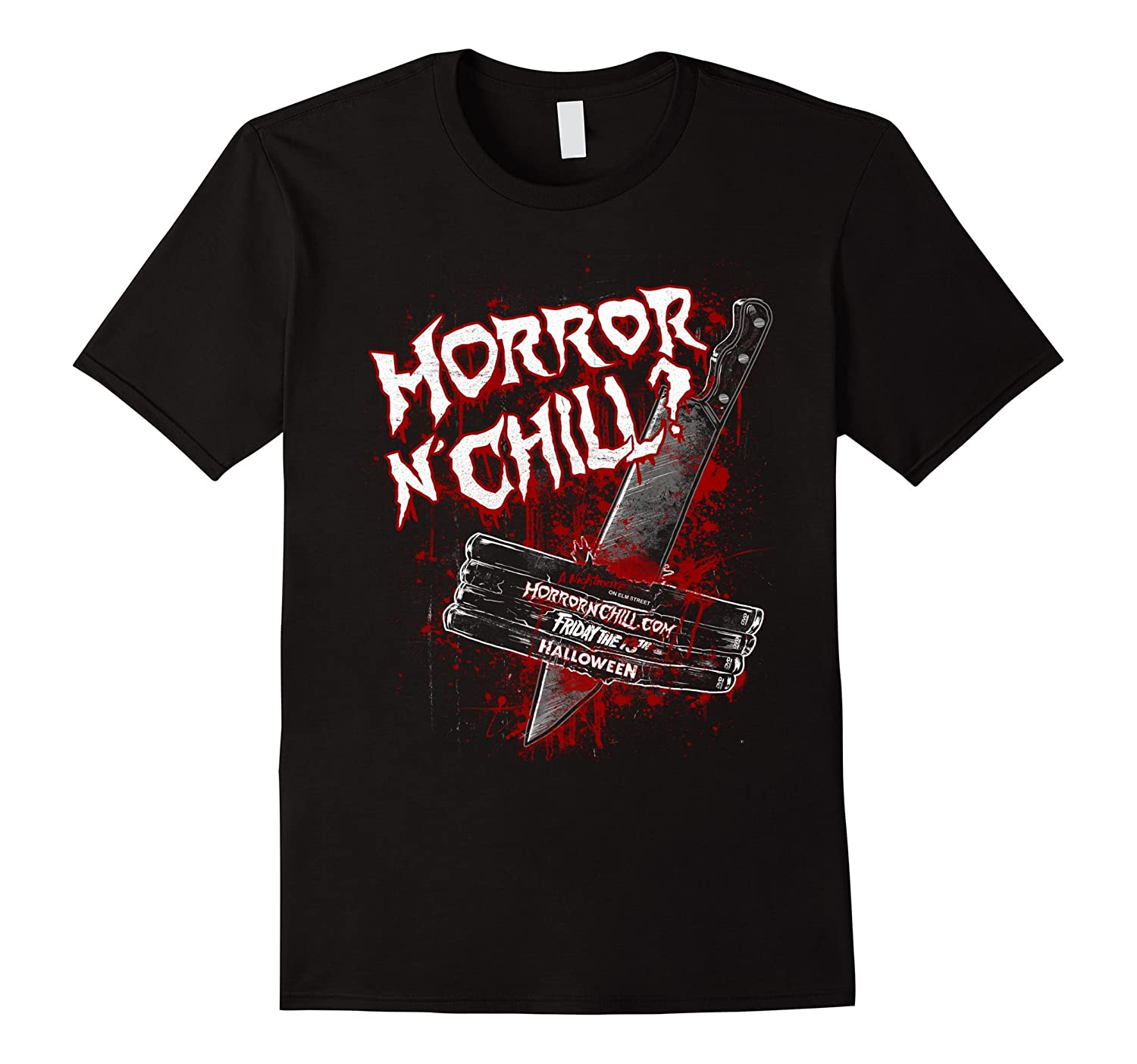 Official Horror n Chill? T-shirt-Vaci