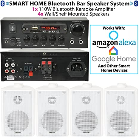 bar ristorante Home Bluetooth a muro sfondo bianco speaker System – wireless  Music player c593666bf193