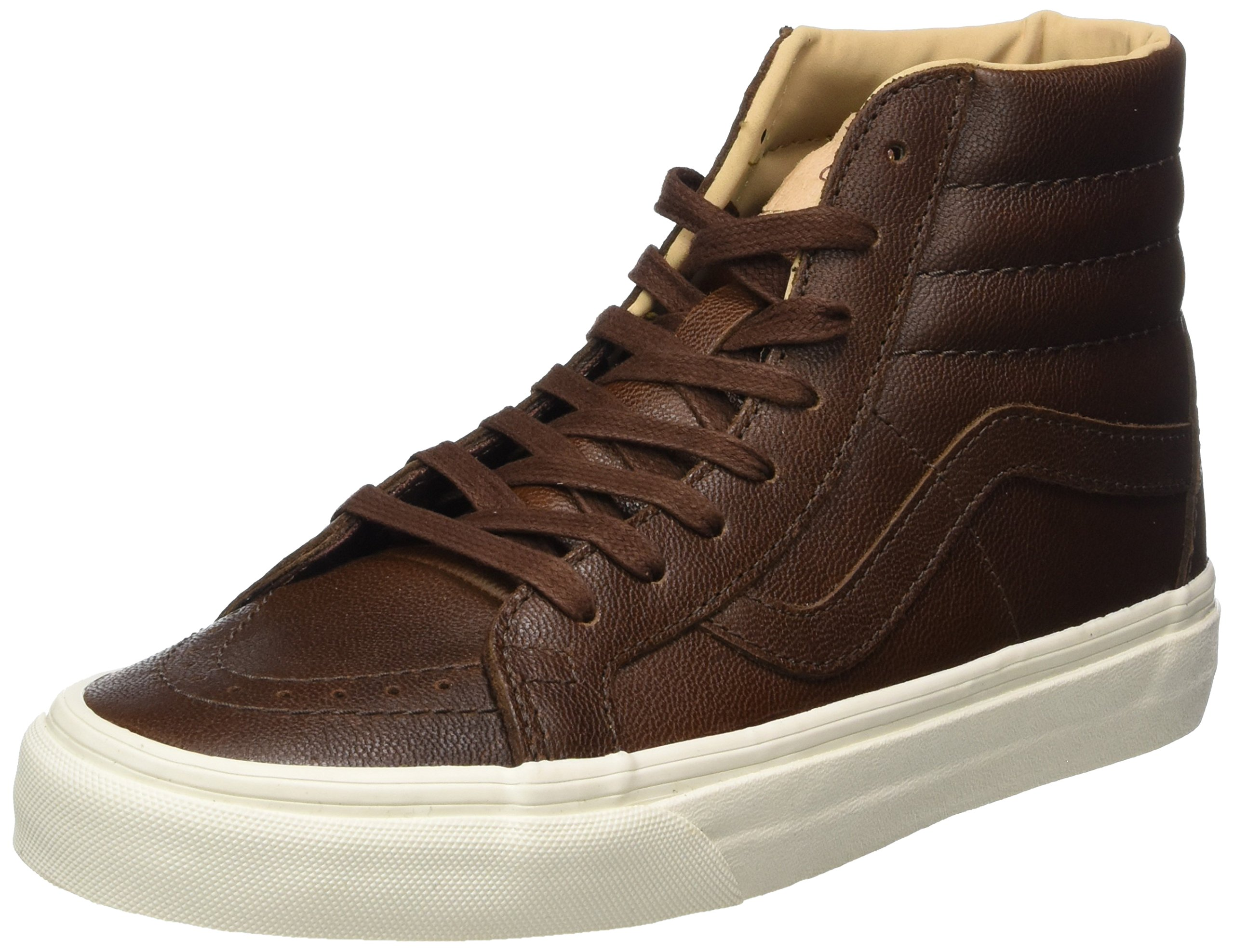 Vans Unisex Adults' Sk8-Hi Reissue Leather Trainers, Brown (Lux Leather/Shaved Chocolate/Porcini), 6 UK 39 EU