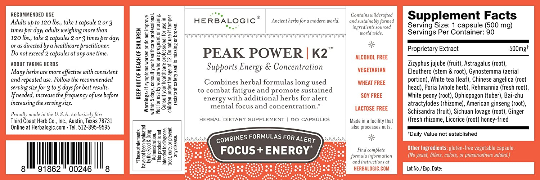 Peak Power K-2 Energy and Focus Capsules, 90 ct.