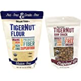 Organic Gemini TigerNut Flour (16 ounce) and Raw Snack (12 ounce) Bundle Gluten-Free - Vegan - Non GMO - Paleo - Kosher