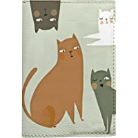 Passport Covers cats design travel wallet for documents eco leather material