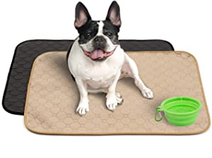 Mujo Washable Pee Pads, Machine Washable, Reusable Pee Pad, Whelping Pad, Waterproof Puppy Training Pads, Pet Travel, Dog Floor and Crate mats, Potty Pads, 2 Pack 26