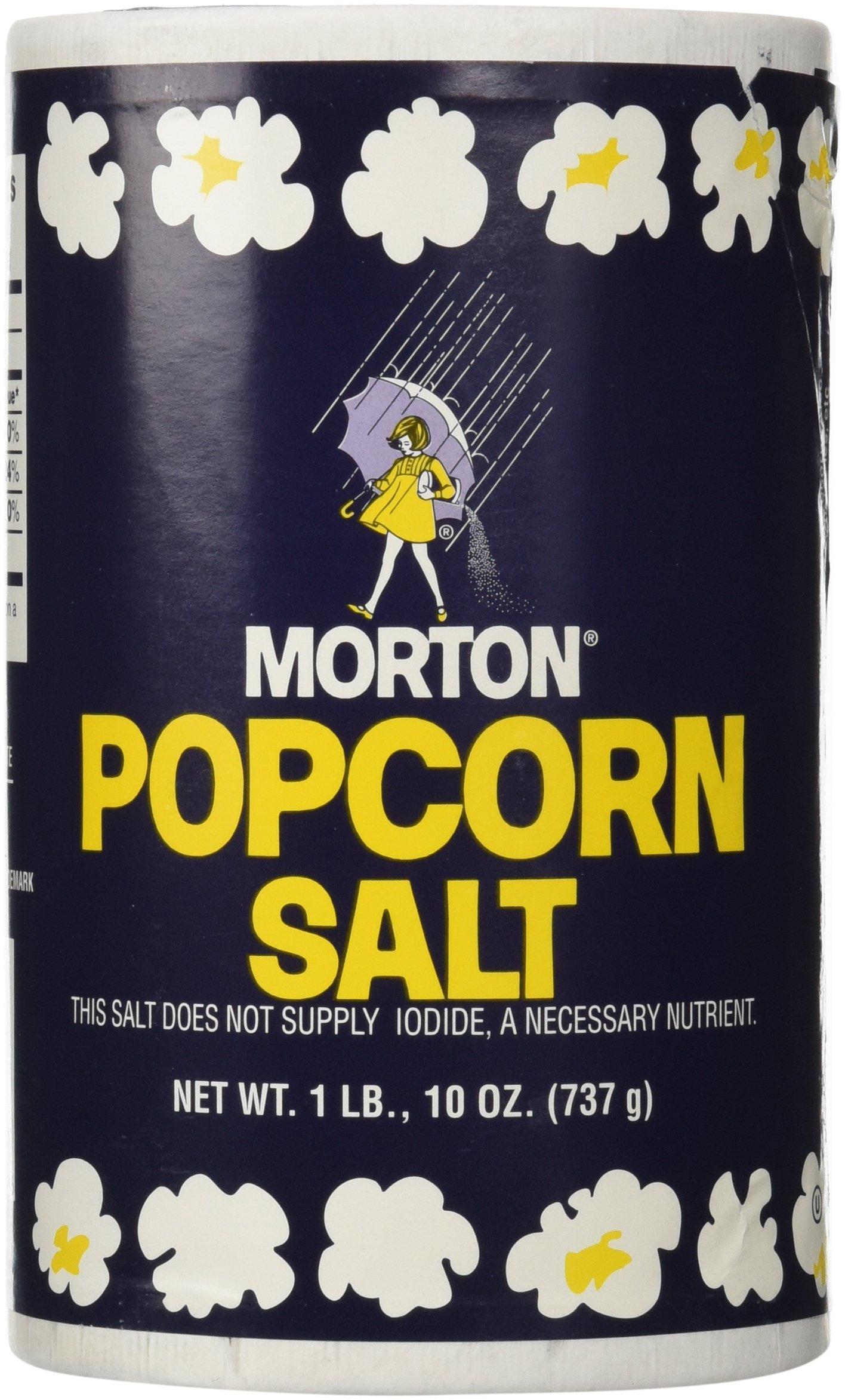 1Lb 10oz Morton Popcorn Salt For Green Salad, Corn on the Cob, French Fries, Nuts by Morton