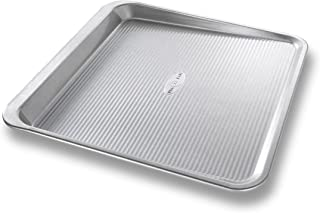 product image for USA Pan Bakeware Easy Slide Non Stick Cookie Sheet Pan, Medium, Silver