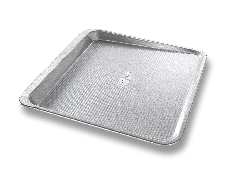 USA Pan Bakeware 10205MC Easy Slide Non Stick Cookie Sheet Pan Medium Silver