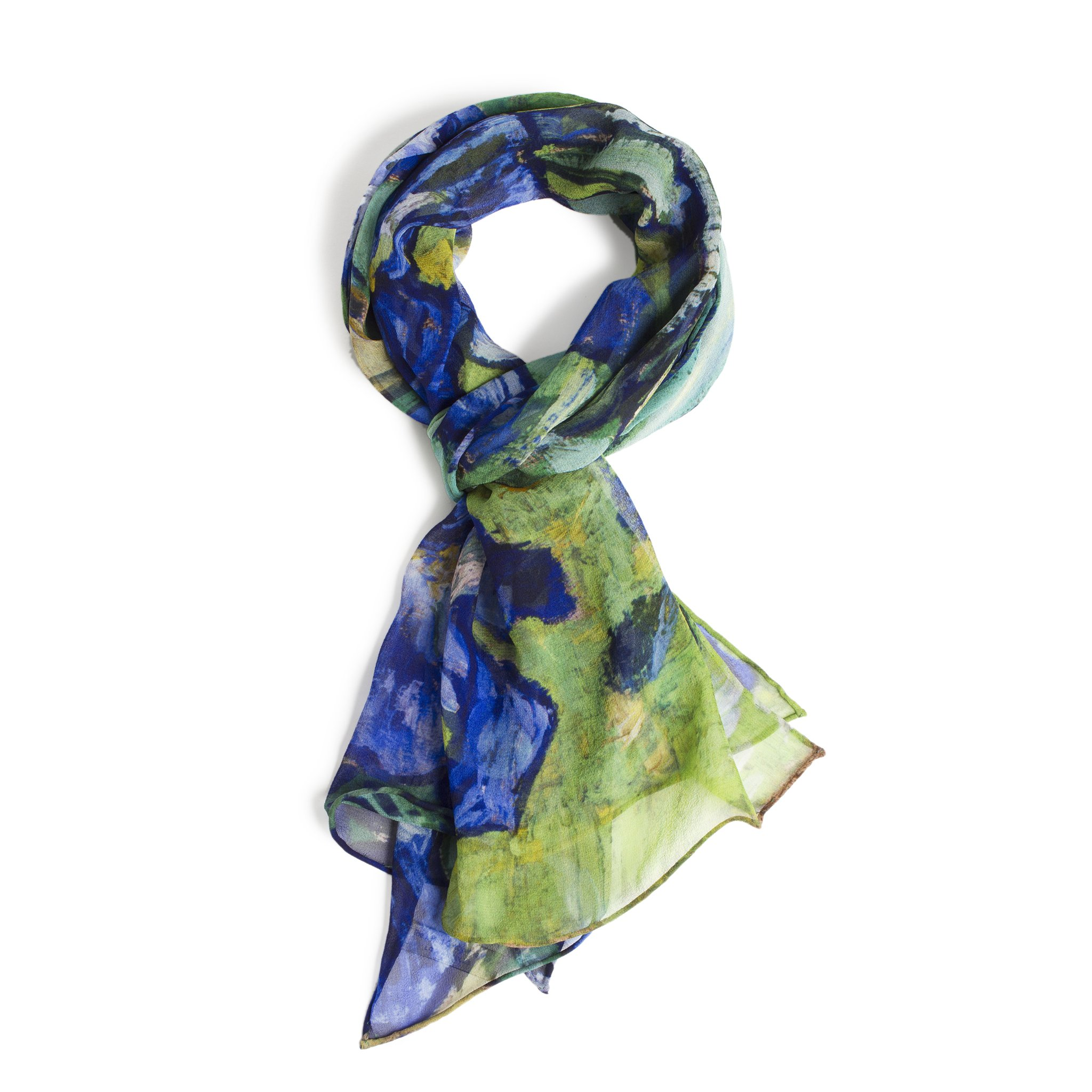 Van Gogh's Irises – Women's Scarf – 100% Silk Chiffon by Getty Museum Store