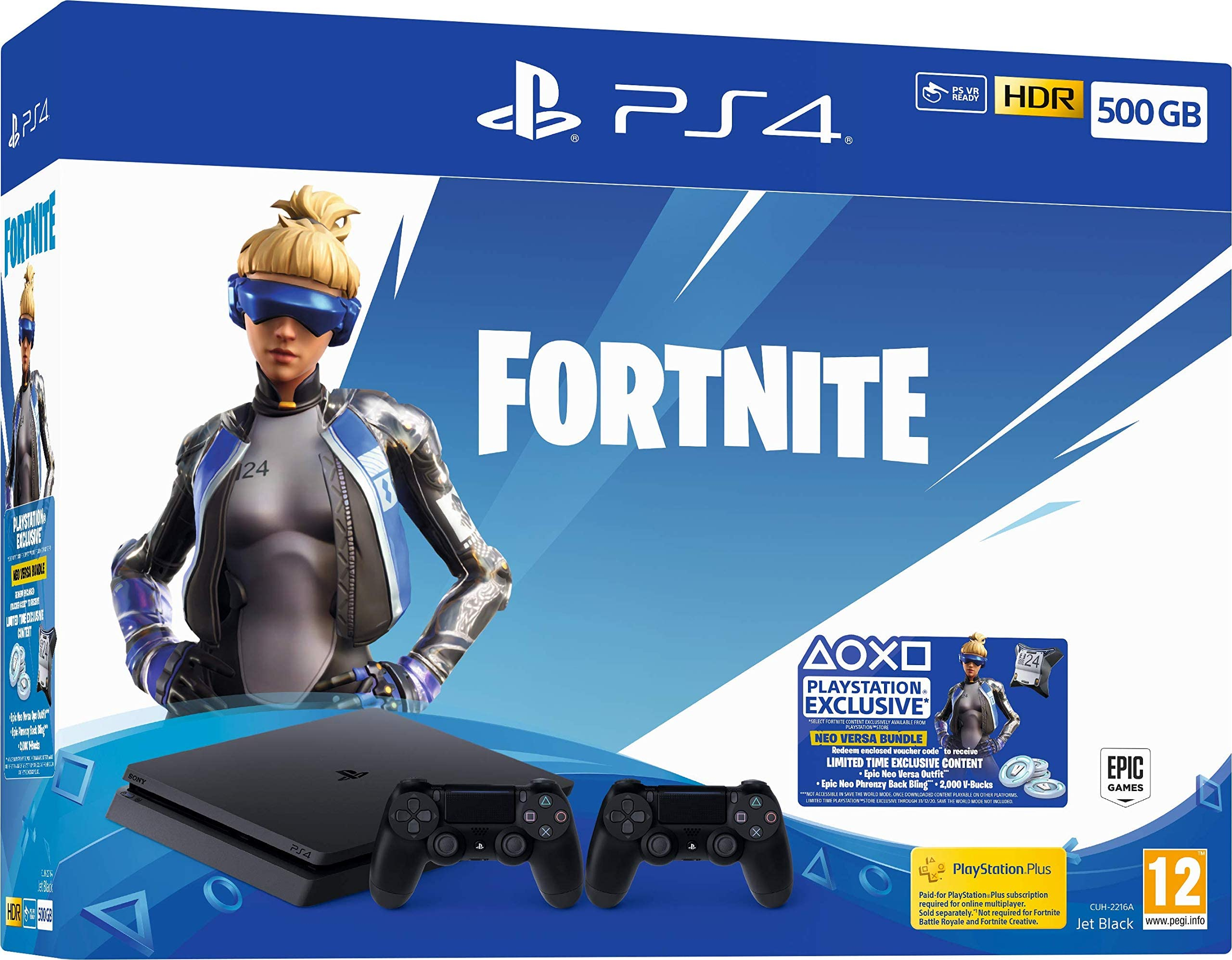 Amazon.com: Fortnite Neo Versa 500GB PS4 Bundle with Second ...