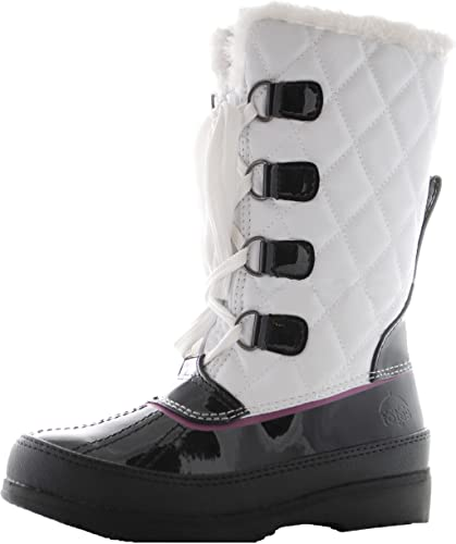 girls white snow boots
