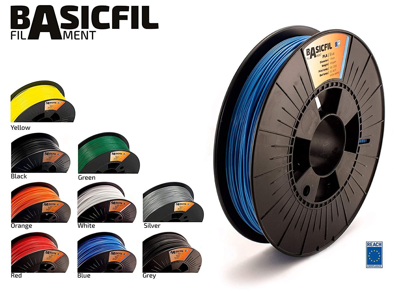 BASICFIL PLA 1.75mm 500 g, BLAU (blue), 3D Drucker Filament