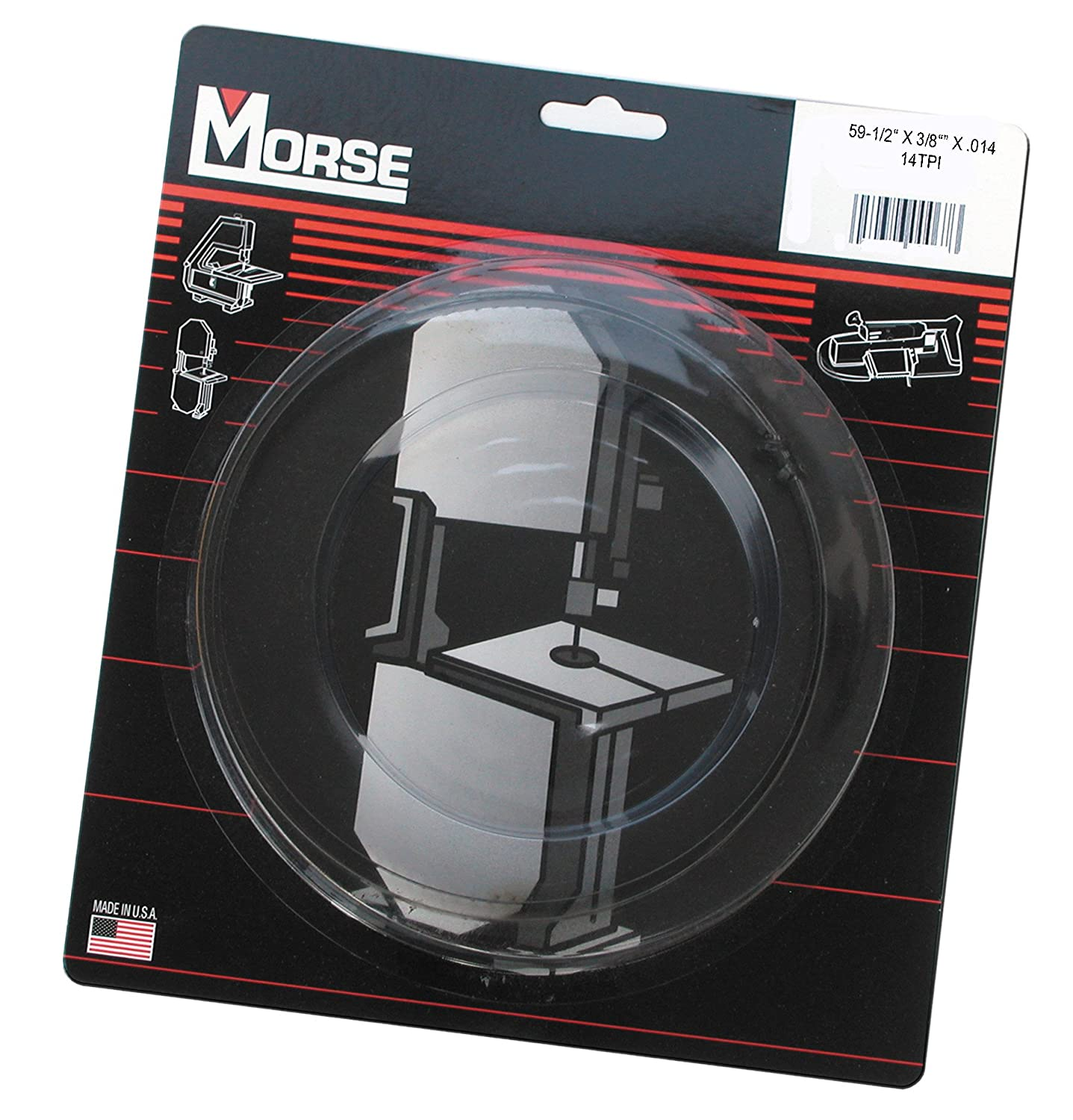 MK Morse ZCDC14 14TPI Woodworking Stationary Bandsaw Blade, 59-1/2-Inch by 3/8-Inch