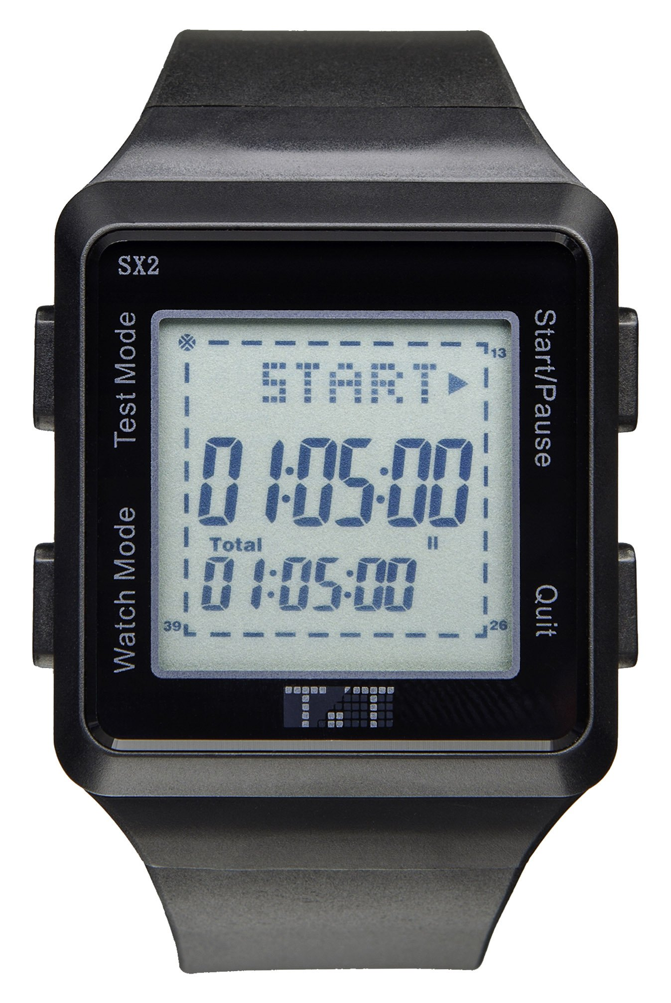 Testing Timers TT-SII Testing Timers TT-SII SAT G2 Pacing Digital Timer and Watch, 2nd Generation, 0.5'' Height, 1.75'' Width, Black by Testing Timers