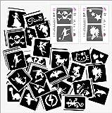 48 Mixed Girls & Boys Glitter Tattoo Body Art Stencil pack by Fun And Glitter