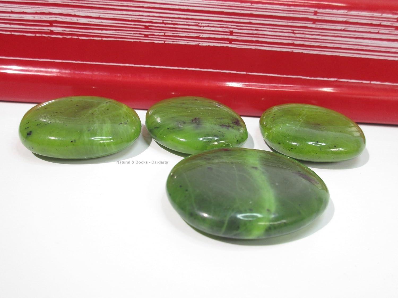 Lib/ère du n/égatif Chance Lithoth/érapie : Stabilit/é /équilibre /émotionnelle Natural /& Books : Grand galet Jade extra pierre naturelle