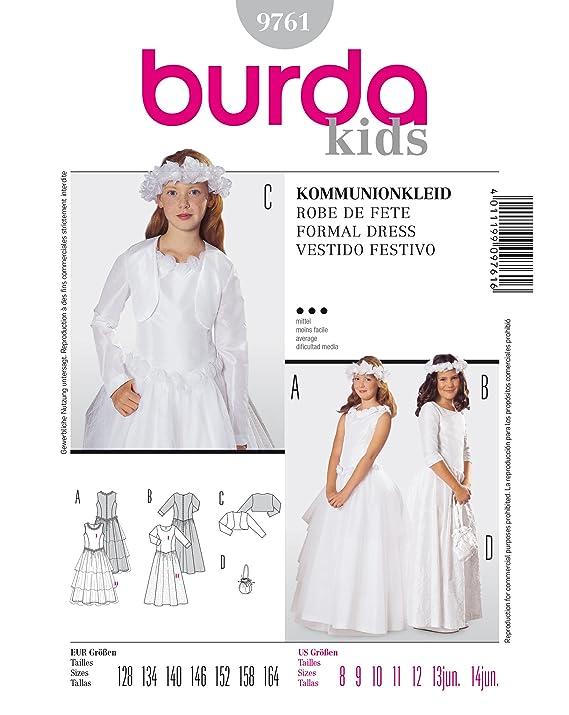 Burda Patrón 9761 Kids Vestidos de comunión: Amazon.es: Hogar