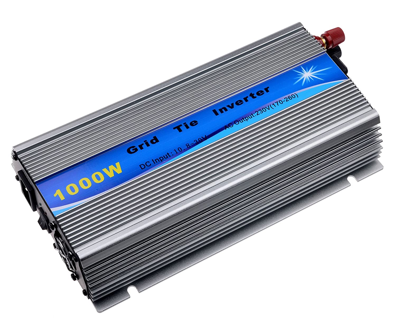 1000W Grid Tie Wechselrichter MPPT für Solarpanel stapelbar Pure Sine Wave 10,8–30V Solar Input