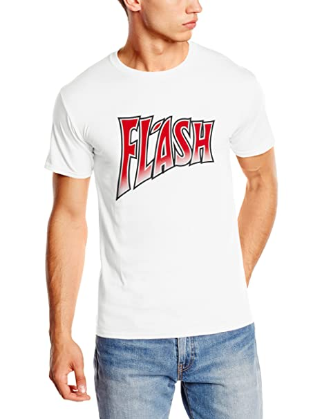 Queen Mens Flash Gordon Short Sleeve T-shirt, White,medium