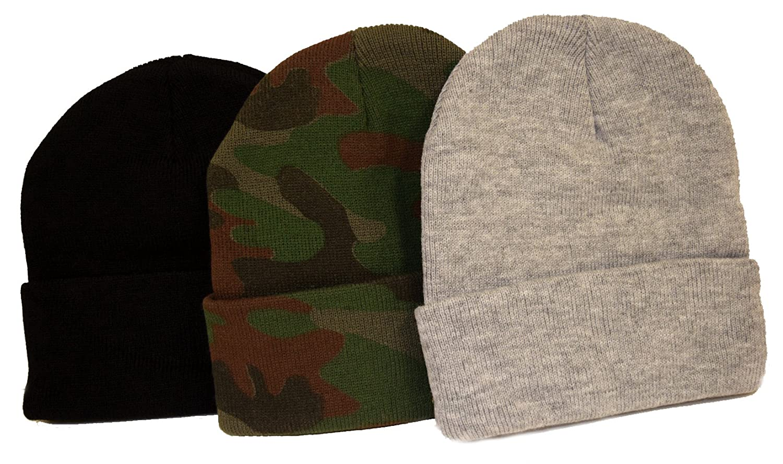 5508f8298f7 Amazon.com  Great Deals! 3 Knit Beanies  Black