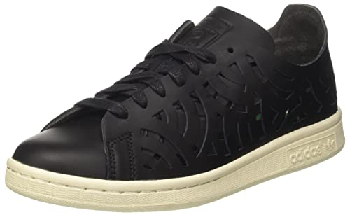 Womens Stan Smith Cutout Low-Top Sneakers, Black adidas