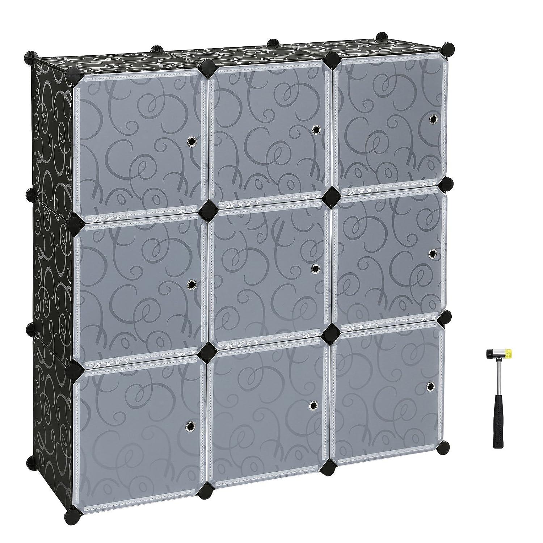 SONGMICS Interlocking Storage Cube Organiser Shelf/Shoe Rack ...
