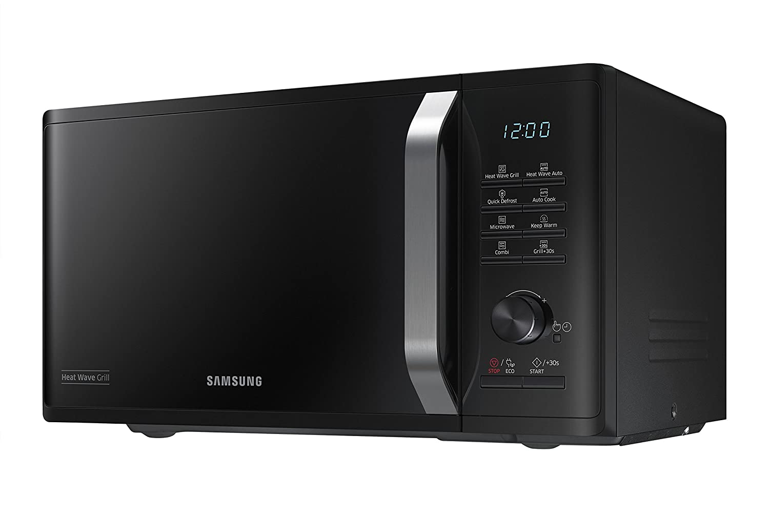 Samsung MG23K3575CK - Microondas (Countertop, Grill microwave, 23 L, 800 W, Buttons,Rotary, Black)