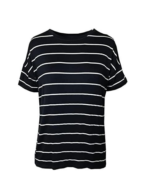 Marks /& Spencer Womens Cotton T-Shirt Top New Striped M/&S Short Sleeve Stripey T
