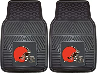 """product image for FANMATS 8893 NFL Cleveland Browns Vinyl Heavy Duty Car Mat,Black,18""""x27"""""""
