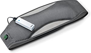 Beurer Portable, Wireless, Heating Belt Pad with Convenient Storage Bag, Rechargeable for Indoor and Outdoor Use, Pain Relief, Grey HK67