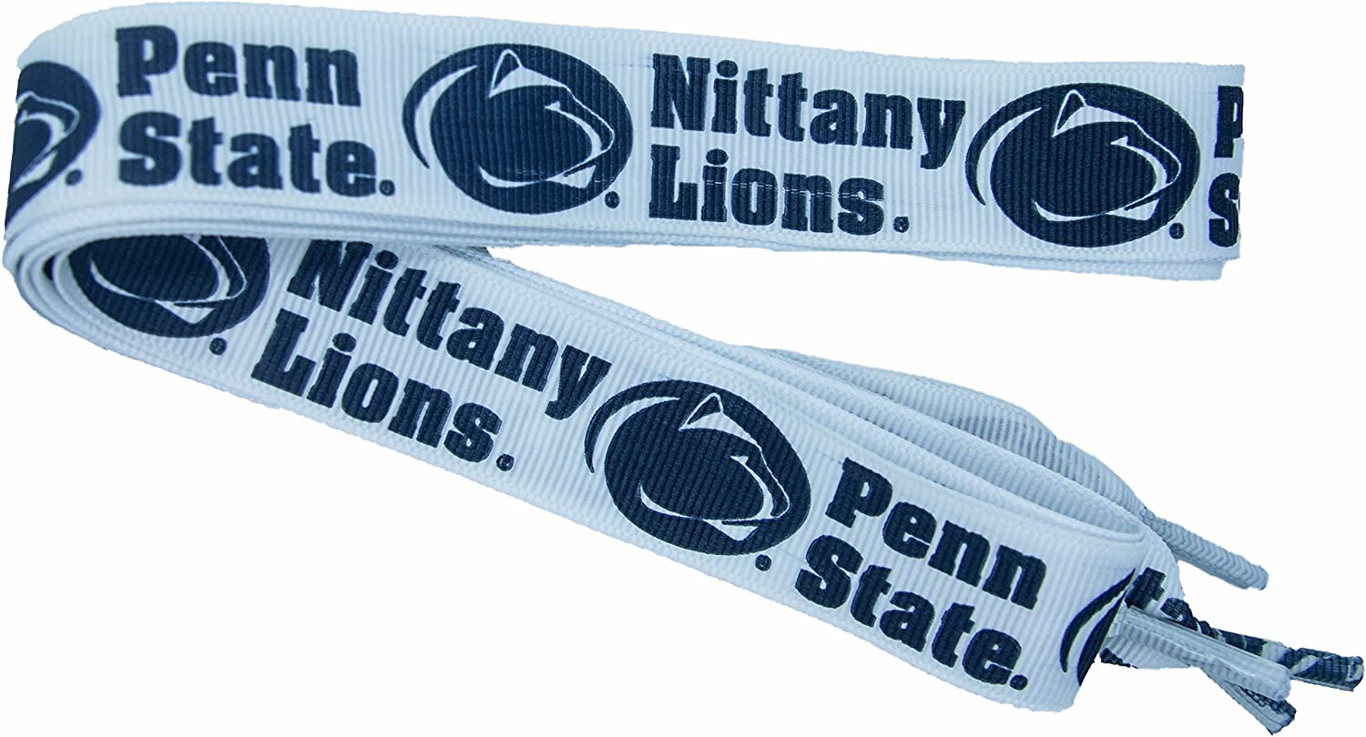 Divine Creations NCAA Penn State Nittany Lions Shoelaces, Navy/White, One Size : Clothing