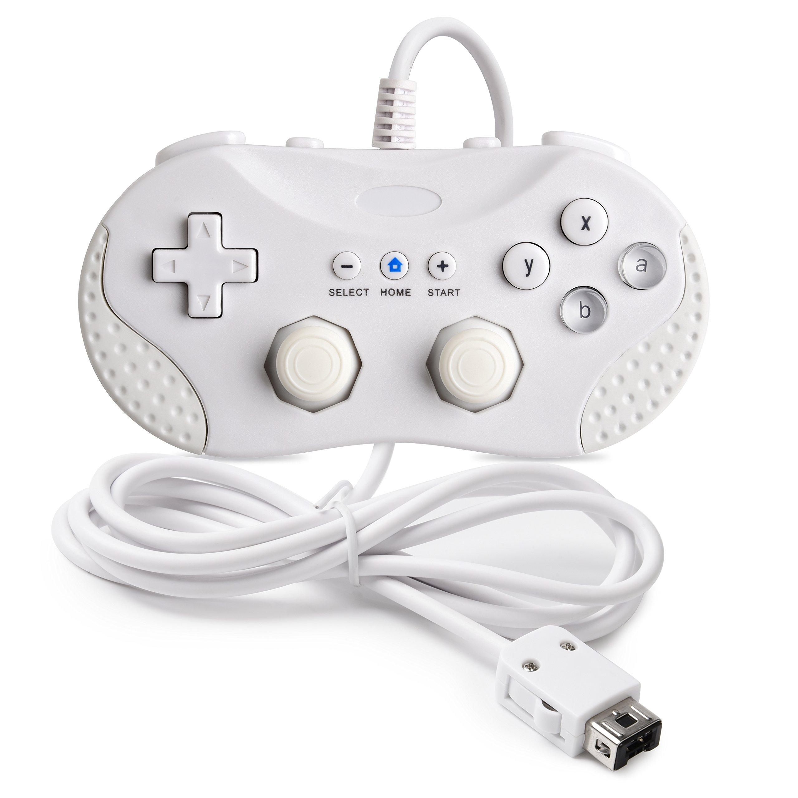 iNNEXT Classic Controller for Nintendo Wii / Wii U / NES Classic Edition (NES Mini), Classic Console Gamepad Gaming Pad Joypad for Nintendo Wii Wii U (White)