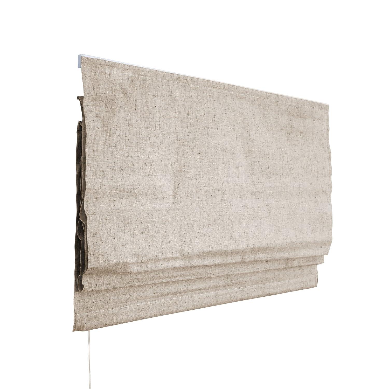VICTORIA M Klemmfix Tenda a pacchetto per finestra montabile senza fori, 140 x 240cm, avorio screziato