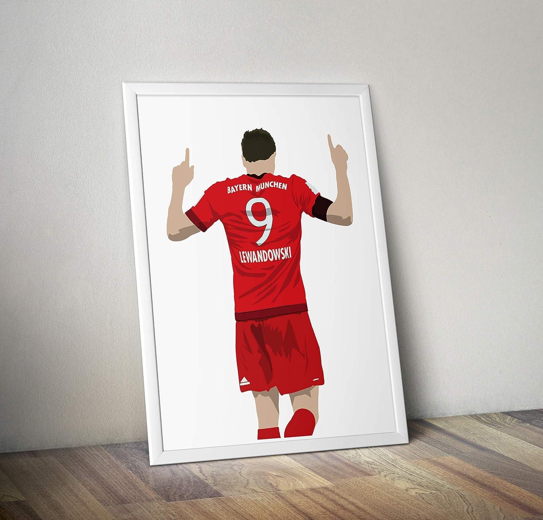 Alternative Sport//Fu/ßball Prints in verschiedenen Gr/ö/ßen Robert Lewandowski inspirierte Poster Rahmen nicht im Lieferumfang enthalten Zitat