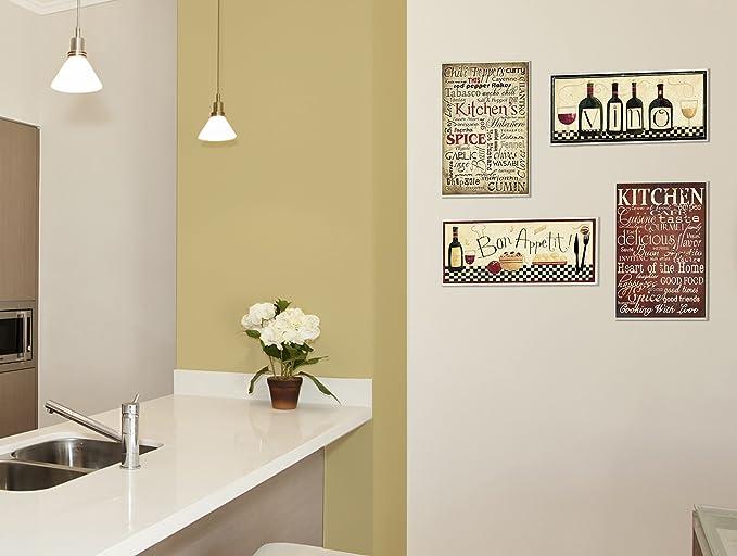 Amazon.com: Stupell Home Décor Bon Appetit Kitchen Wall Plaque, 7 x ...