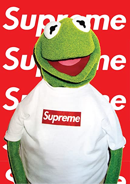 bf509fccfbf0 Fotojig Kermit the frog A1 Large Icon Poster Rare SUPREME: Amazon.co.uk:  Kitchen & Home