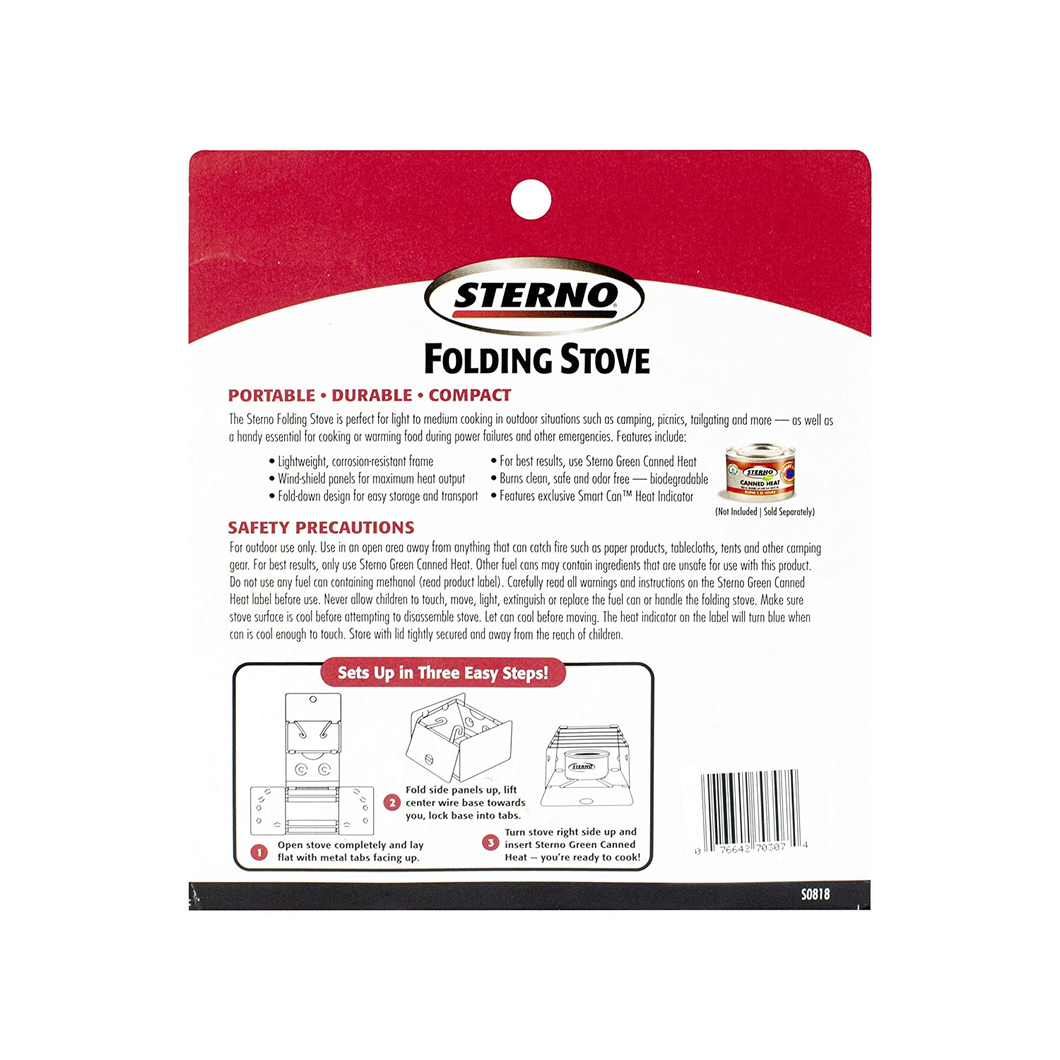 Sterno 70308 Outdoor Folding Camp Stove