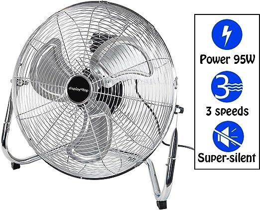 D4P Display4top 3 Velocidades Ventilador de Suelo Ideal para ...
