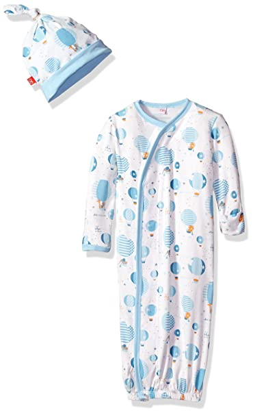 55f2f210c Magnificent Baby Baby Infant Magnetic Modal Gown and Hat Set, up in ...