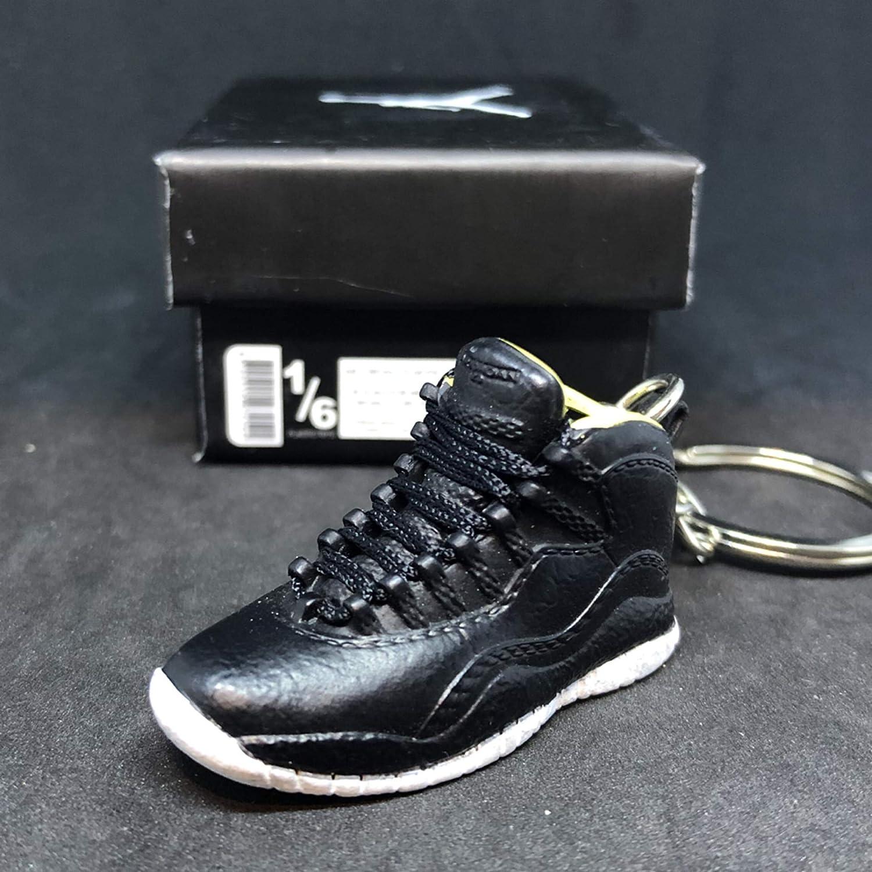 80473923e4f10d Amazon.com  Air Jordan X 10 High Retro Venom Green Black OG Sneakers Shoes  3D Keychain 1 6 Figure + Shoe Box  Everything Else