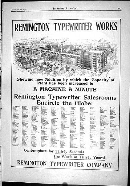 La Impresión Antigua de la Máquina De Escribir de Remington del Anuncio Trabaja al Americano Científico