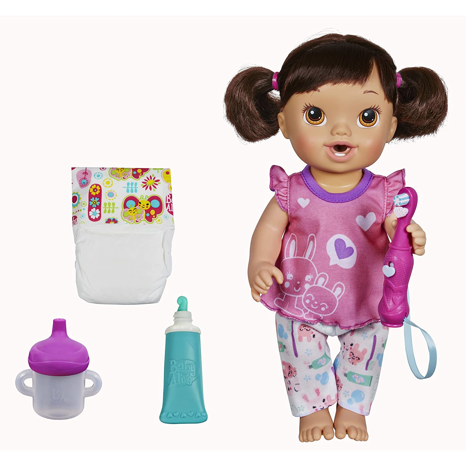 Amazon Com Baby Alive Brushy Brushy Baby Doll Brunette Toys Games