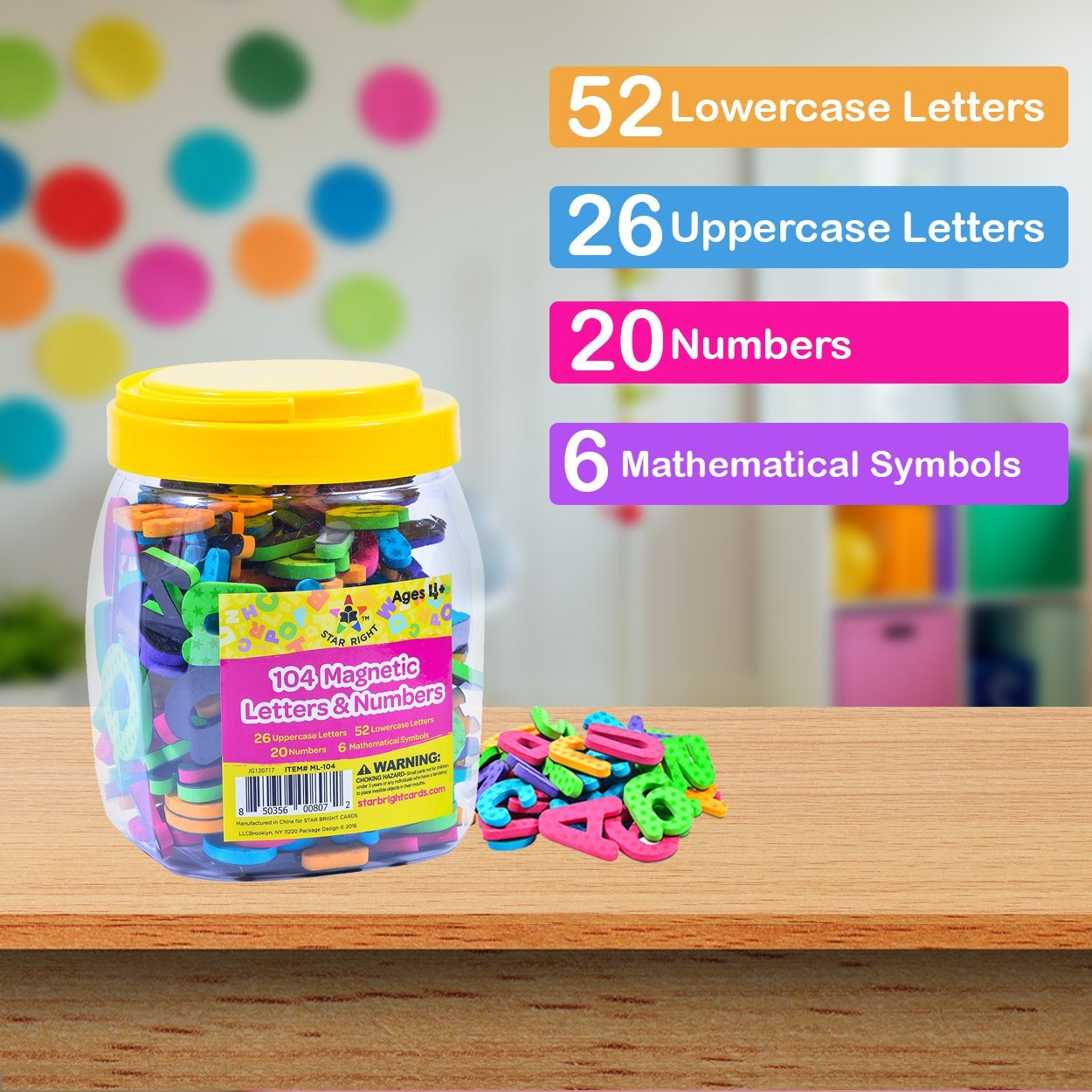 Amazon Star Right Magnetic Letters And Numbers 104