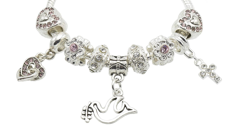 Jewellery Hut Bracelet de Confirmation /à paillettes /à breloques pour filles