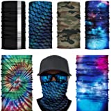 6PCS UV Dust Protection, Wind Proof Magic Scarf Rainbow Bandana scarf headband for Men and Women cooling bandana bib…