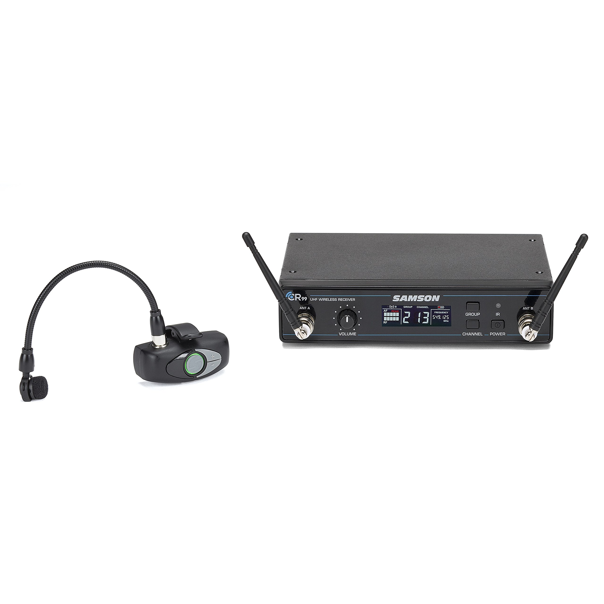 Samson AirLine AWX Wind Instrument Micro Transmitter Wireless System with HM60 Wind Instrument Microphone, K-Band by Samson Technologies