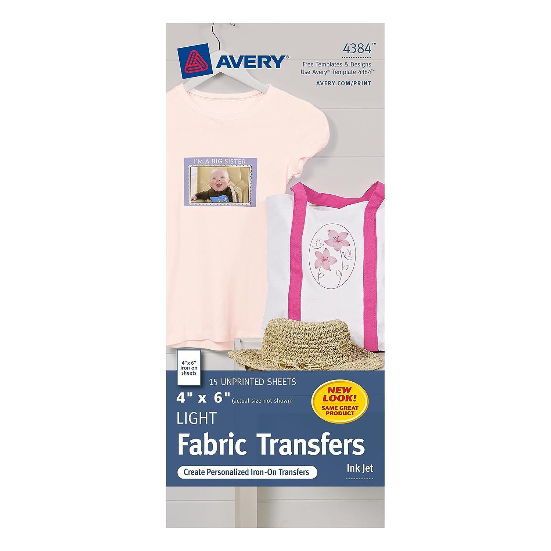 amazon com avery light t shirt transfers for inkjet printers 4 x