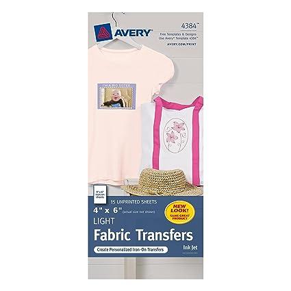 Amazon Avery Light T Shirt Transfers For Inkjet Printers 4 X