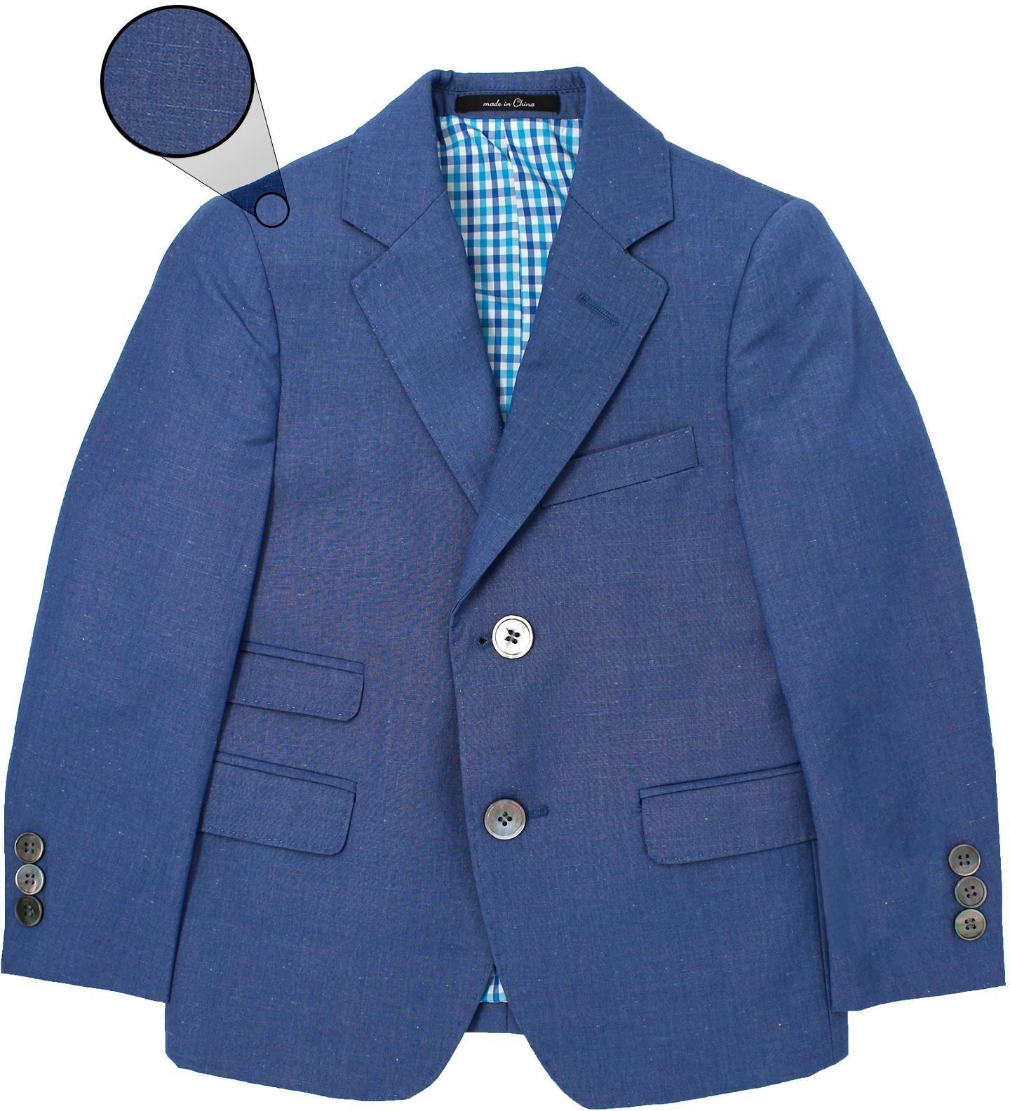 T.O. Collection Boys Blue Slim Fit Blazer - 1622-22 - Blue, 4 Slim