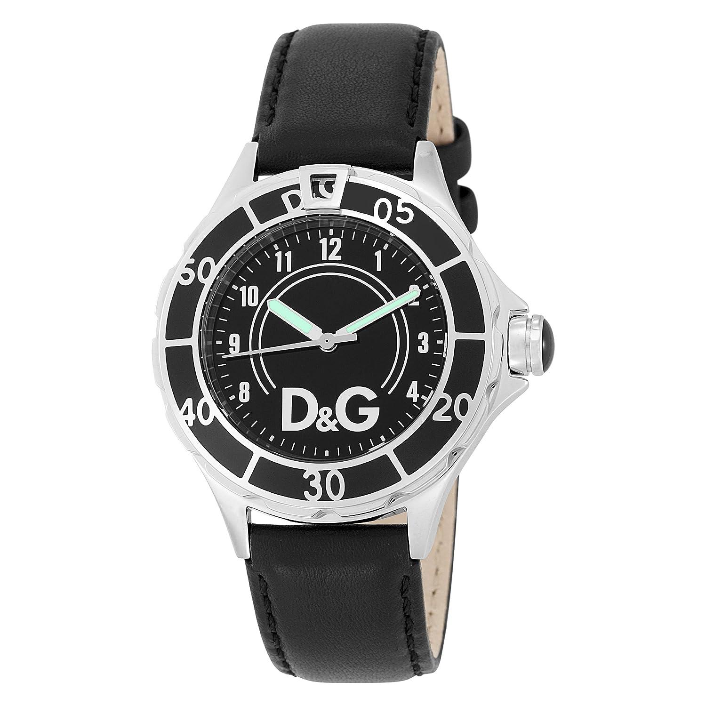 D&G Dolce&Gabbana Herren-Armbanduhr NEW ANCHOR BLACK DIAL BLACK STRAP CASE SS W-BLA DW0509