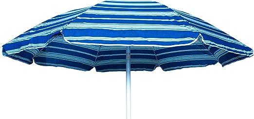 Sombrilla de Playa 200 cm en Algodón 100 G Letojanni-Azul: Amazon.es: Jardín