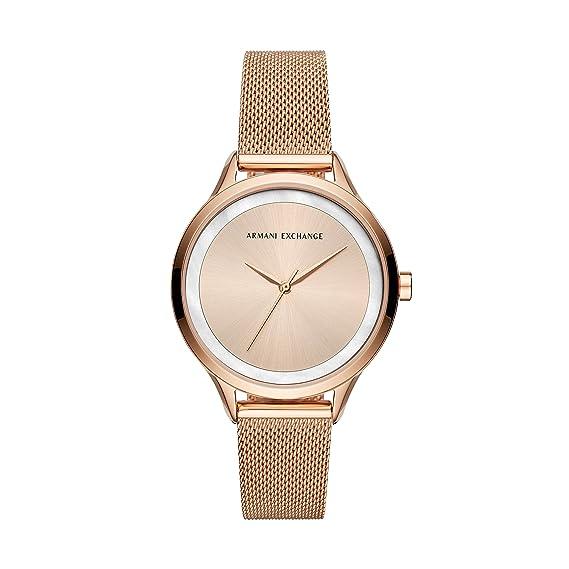 56fd247b544 Armani Exchange Reloj Analogico para Mujer de Cuarzo con Correa en Acero  Inoxidable AX5602  Amazon.es  Relojes